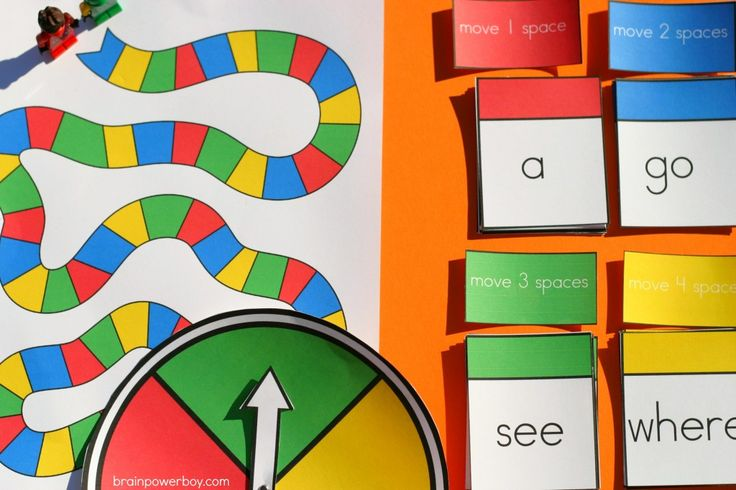 printable sight word game for boys learning to read