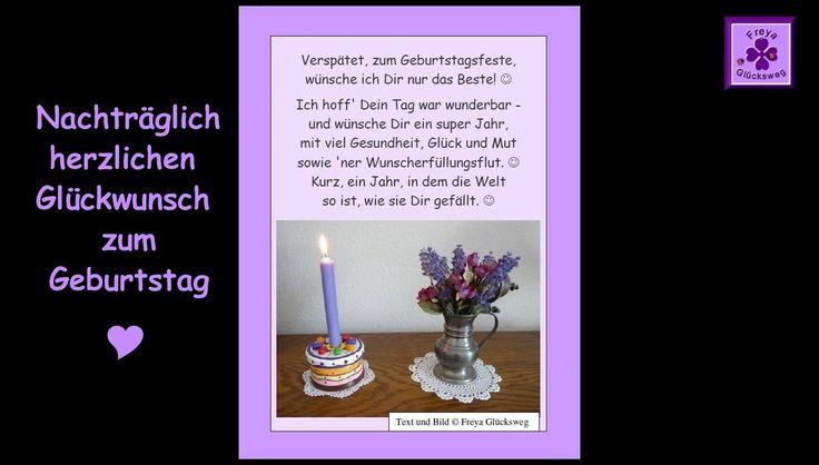 FG51 - Nachträgliches Gedicht zum Geburtstag ❤ Geburtstagsgedicht, nacht...