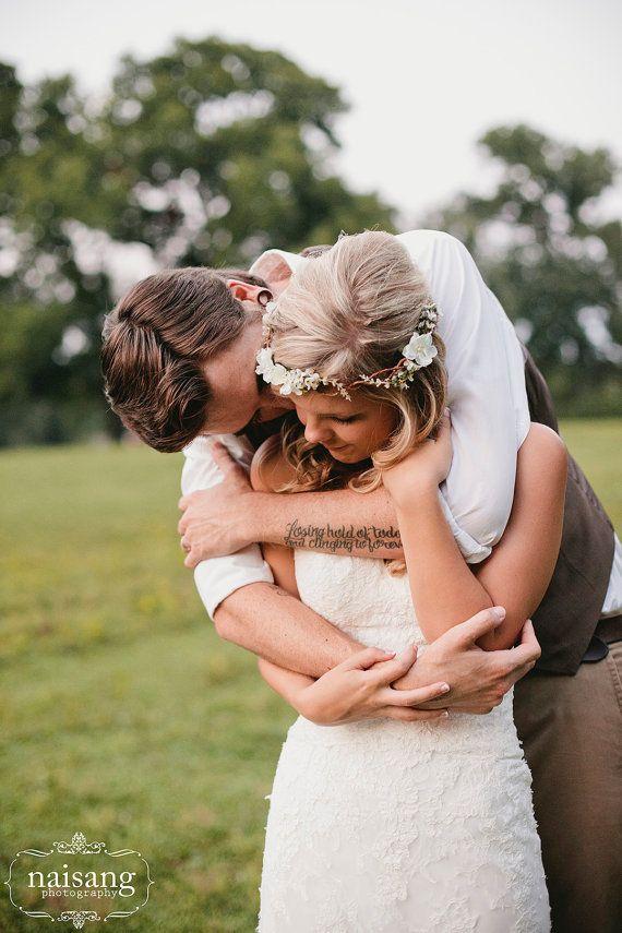 wedding headband Bridal Flower hair wedding by serenitycrystal