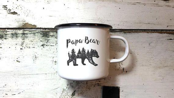PAPA BEAR MUG  Enamel Mug Papa Mug Father Mug Dad Mug