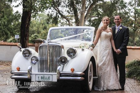 Classic Jaguar Mk5 convertible wedding car in Perth Western Australia.. courtesy of Belle Classic