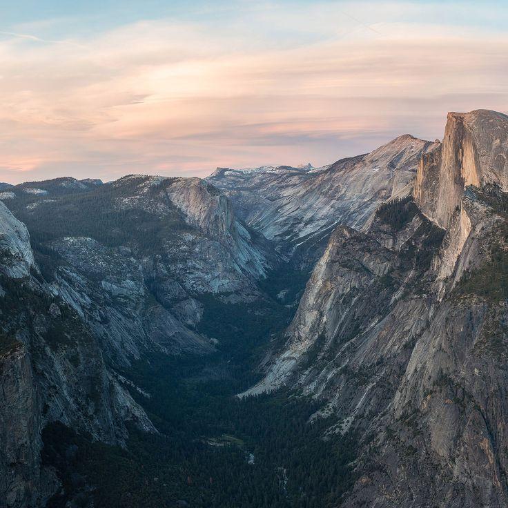 IPad Glacier Point At Sunset Yosemite Wallpaper