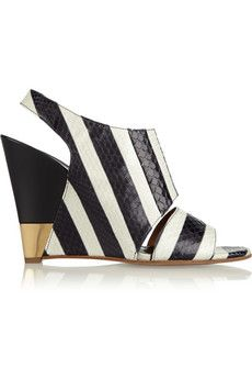Chloe Striped ayers wedge sandals | THE OUTNET