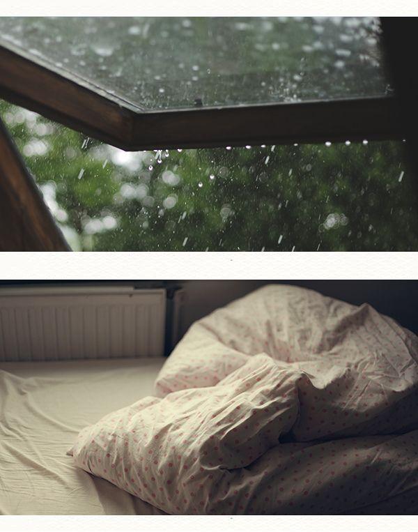 I love my attic bedroom especially in the rain..