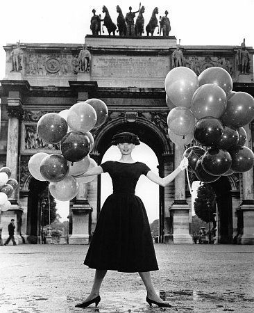"""Tomorrow marks the 84th anniversary of Audrey Hepburn's birth. Here she is in """"Funny Face,"""" 1956."""