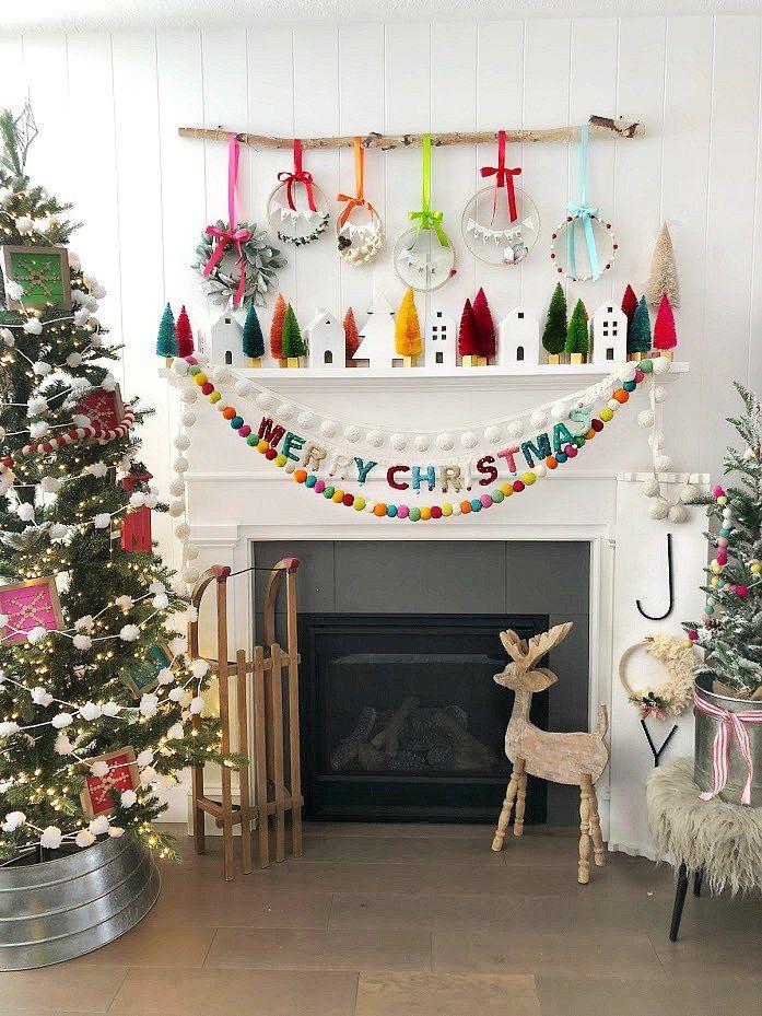 How To Make Holiday Scandinavian Wood Snowflake Ornaments Christmas Mantel Decorations Christmas Mantels Wood Snowflake