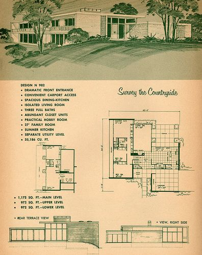 17 best images about googie architecture on pinterest for 1960 ranch house plans
