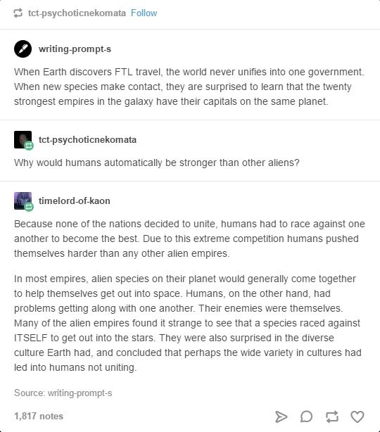 Writing prompt: Space Empires  Credit to http://writing-prompt-s.tumblr.com/ and https://timelord-of-kaon.tumblr.com/