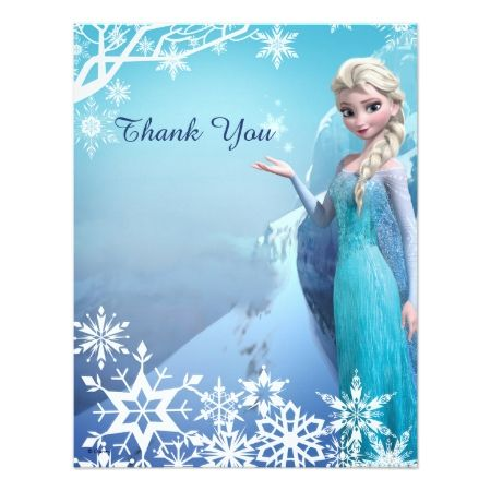 Frozen Elsa Birthday Party Thank You Card - click to get yours right now!