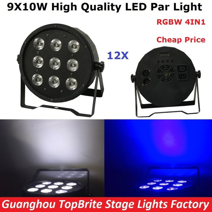 450.00$  Buy here  - 12Pcs/Lot Cheap Price 9X10W RGBW 4IN1 LED Flat Par Light High Power 120W LED Stage Dj Disco Lighting For Party Wedding Nightclub