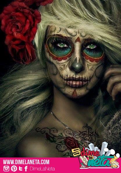 Increíble maquillaje para este Día de Muertos   Halloween ...