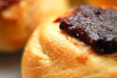 Kolaches (adapted from recipes found in Texas Monthly and the Houston Chronicle)...my grandmother made the best toppings, poppyseed, prune, apricot and pineapple! Great memories