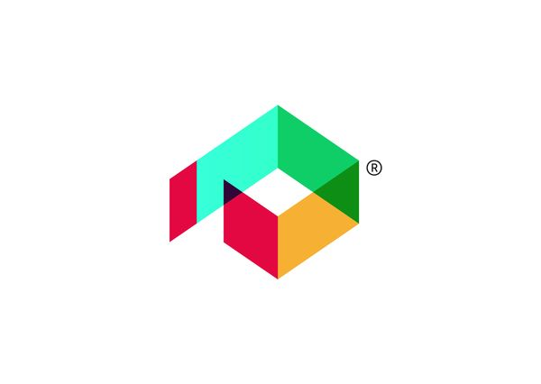 This double complementary logo uses four colours, red,blue,green and orange, each one spaced apart on the colour wheel. This creates a very colourful image in which each colour stands out because of its difference from the other colours.