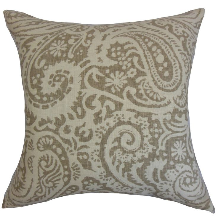 Nellary 22-inch Down Feather Throw Pillow 22-inch Down Feather Throw Pillow Stone
