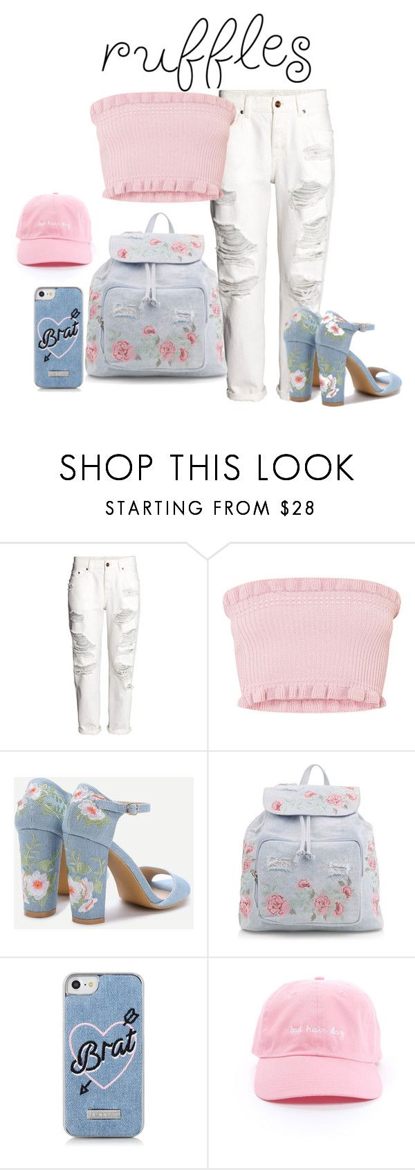 Ruffles by nicole-perestrelo21 on Polyvore featuring H&M, New Look, Skinnydip, Blue, floralprint and rufles