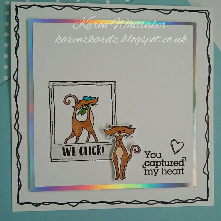 For The Love of Stamps Cute Kittens and Say Cheese stamp sets.  #fortheloveofstamps #hunkydorycrafts #cutekittens ##stamping #stamps #kuretakezig #cards #cardmaking #handmade