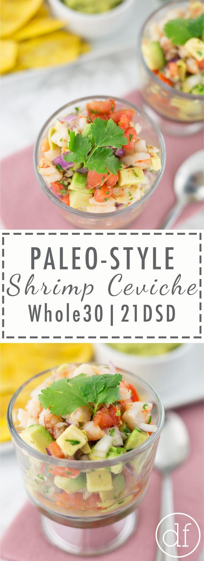 Paleo, Shrimp Ceviche, 21DSD, Whole30, Real Food, Primal, Gluten Free, Grain Free, Dairy Free