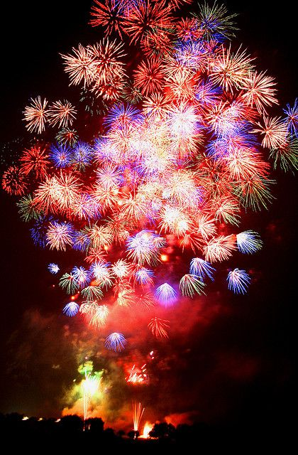 Fireworks....The 4th of July Celebrations with a day out having a picnic & then fireworks.