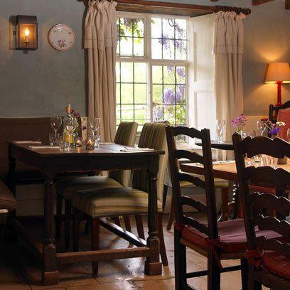 Curtained Window - The Swan Inn