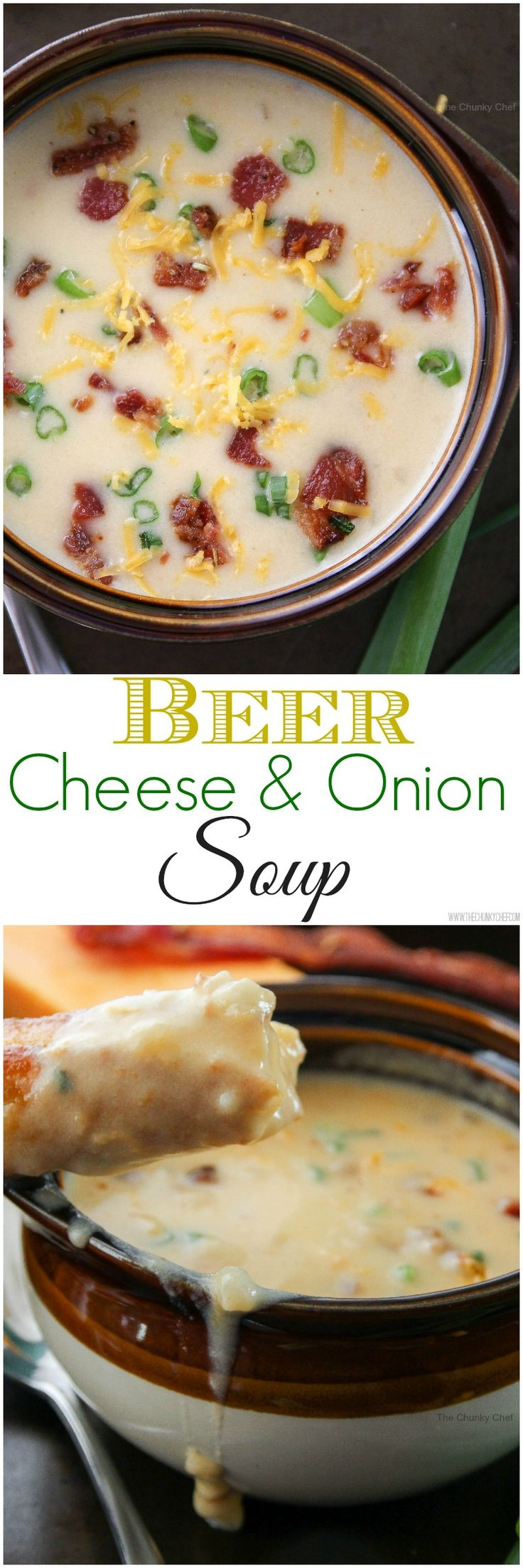 Beer Cheese and Onion Soup/Dip - You know that amazing beer cheese dip you get at pubs? Now you can make that at home, with the addition of flavorful caramelized onions!