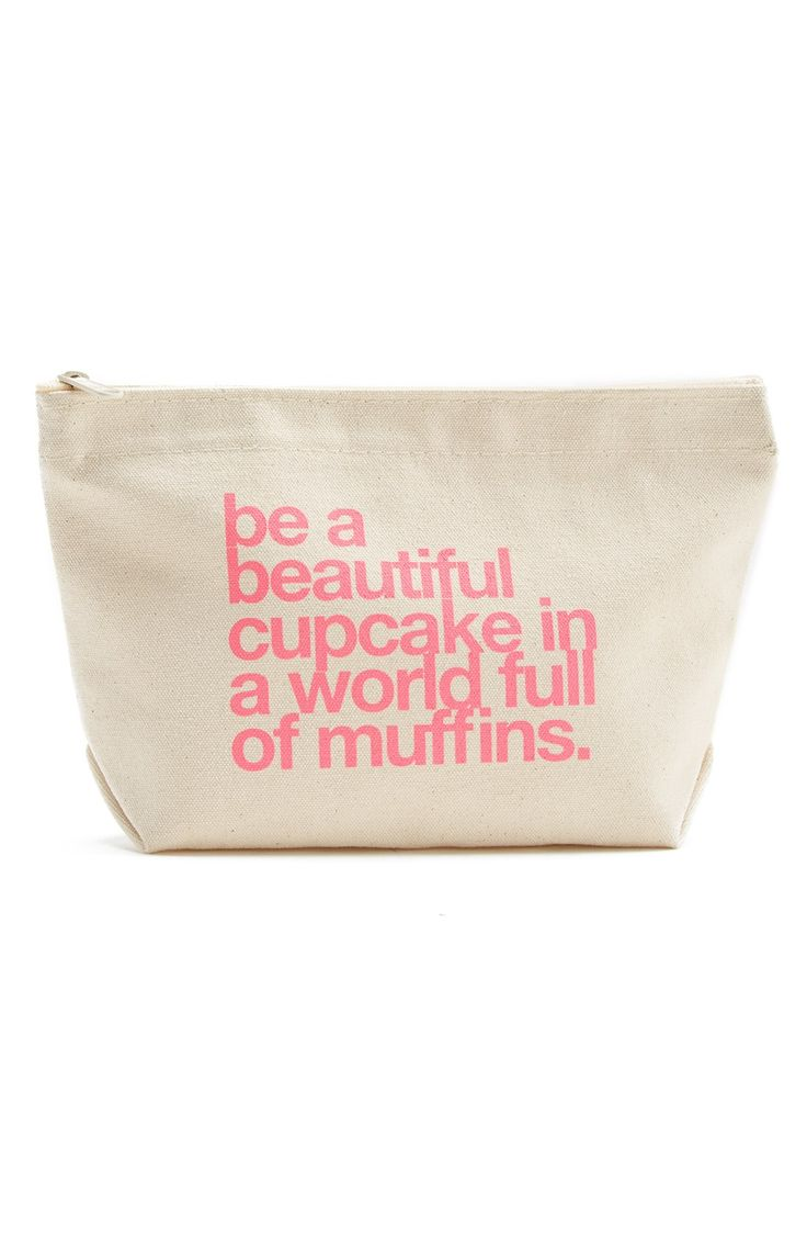 Be a beautiful cupcake in a world full of muffins. fun makeup bag from @nordstrom