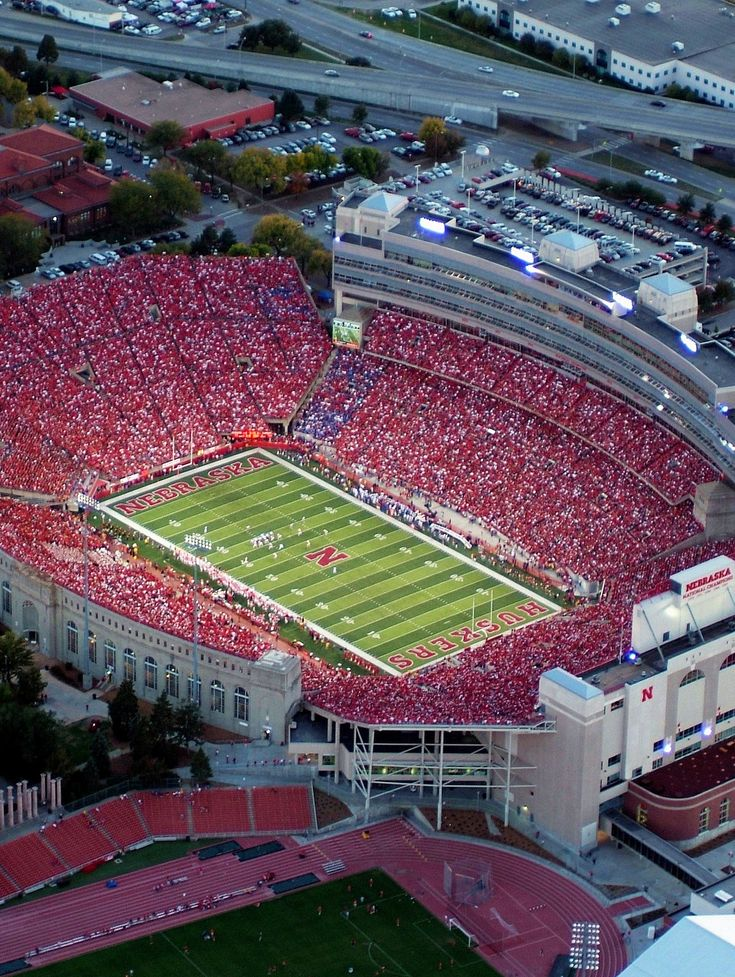 Nebraska football...going to be playing my saxophone on that field soon!!! :)