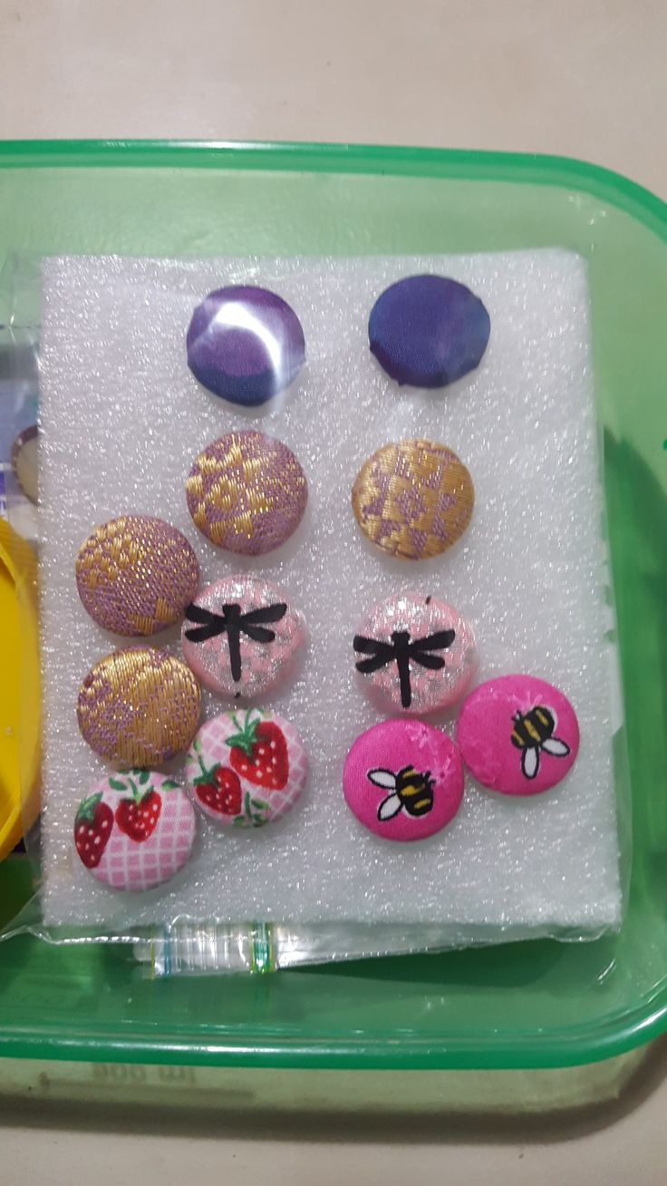 Button Earings I have created