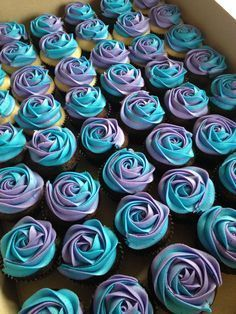 Amazing U201cSexyu201d Blue Velvet Cupcakes U2013 A Bite Of Pleasure. Purple And  Turquoise Baby Shower ...
