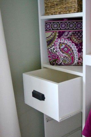 DIY Closet Drawers