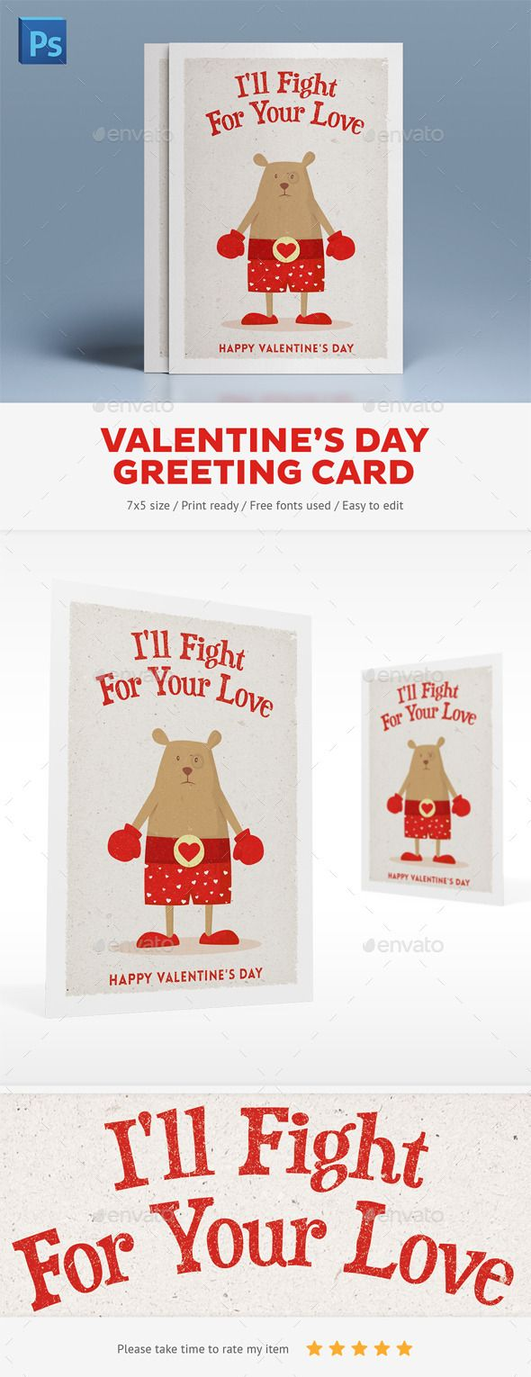 Valentine's Day Greeting Card - Holiday Greeting Cards  http://graphicriver.net/item/valentines-day-greeting-card/10105899?WT.ac=portfolio&WT.z_author=Snowboy