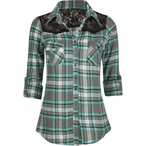 Women's Flannel Shirt...add Orly Green With Envy Nail Polish, black skinny jeans, black riding boots OR ankle boots...fabulous Fall/Winter weekend outfit!