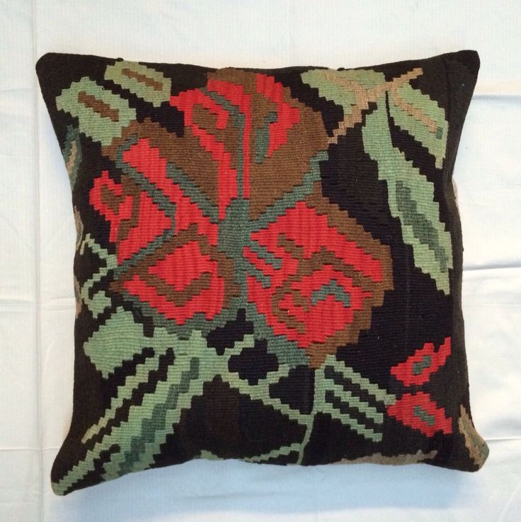 24x24 KILIM PILLOW Cover,Handwoven Throw Pillow,Made Out