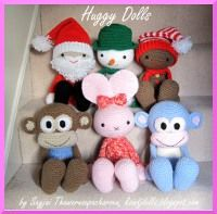 Huggy Dolls Crochet Patterns: e-Books for Kindle or iPad see website for mx patterns