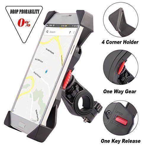 Bike Mount for Mobile Phone Anti Shake Fall Prevention Bicycle Smartphones NEW  #BikeMountforMobile