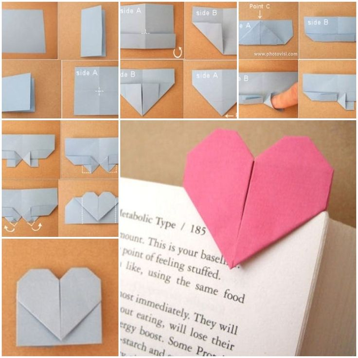 Diy Origami Heart Shaped Bookmark Creative Bookmarks And The Step