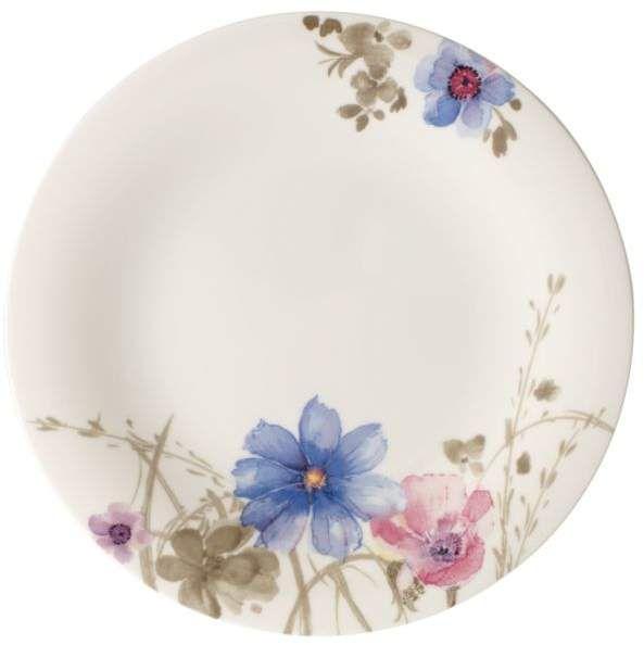 Mariefleur Gris Salad Plate Gris Porcelana Pintada Ceramica Pintada