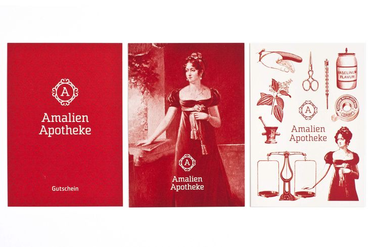 AMALIEN APOTHEKE / Erscheinungsbild und Packaging / #Amalie #Corporate #Design / by Zeichen & Wunder, München
