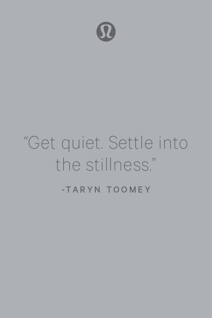 There is strength in stillness.