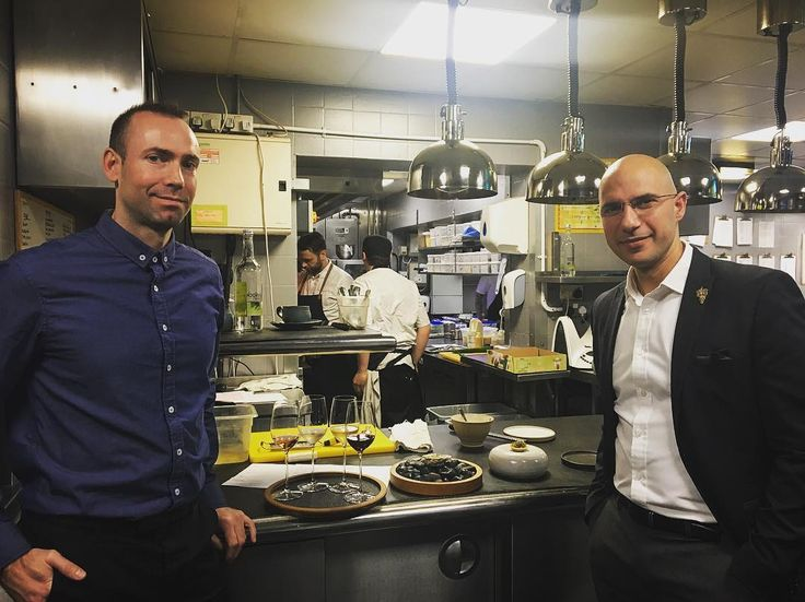 Meet our wine team - Filippo and Vlad  #InTheKitchenWith @adschef @cheftombrown  #collaboration #thefrench #manchester