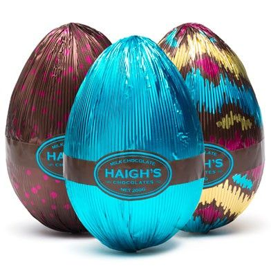 Milk Chocolate Egg - Purchase online, instore and mobile. www.haighschocolates.com #Easter #Chocolate #Gifts #BuyOnline