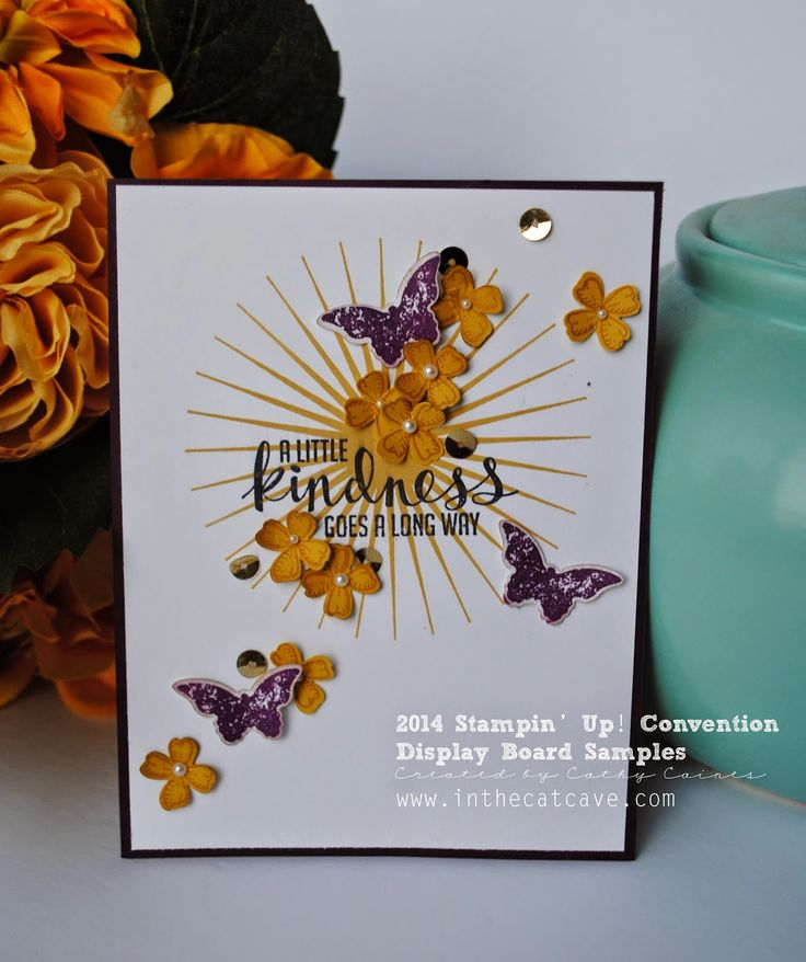 Convention Display Board | Flowers   Butterflies by Cathy Caines @stampinup