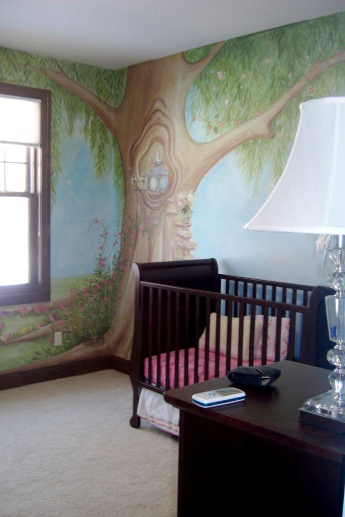 Fairy tree Nursery mural idea as seen on www.findamuralist.com