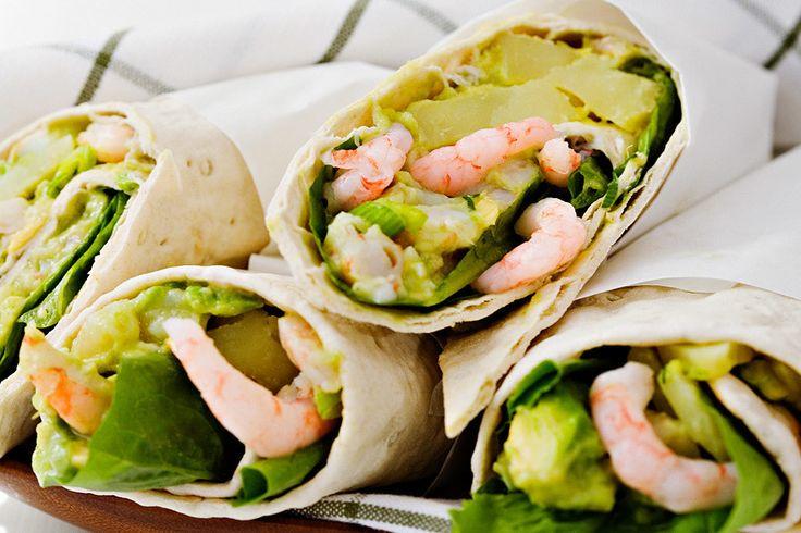 Wrap med räkor, avokado och ägg!