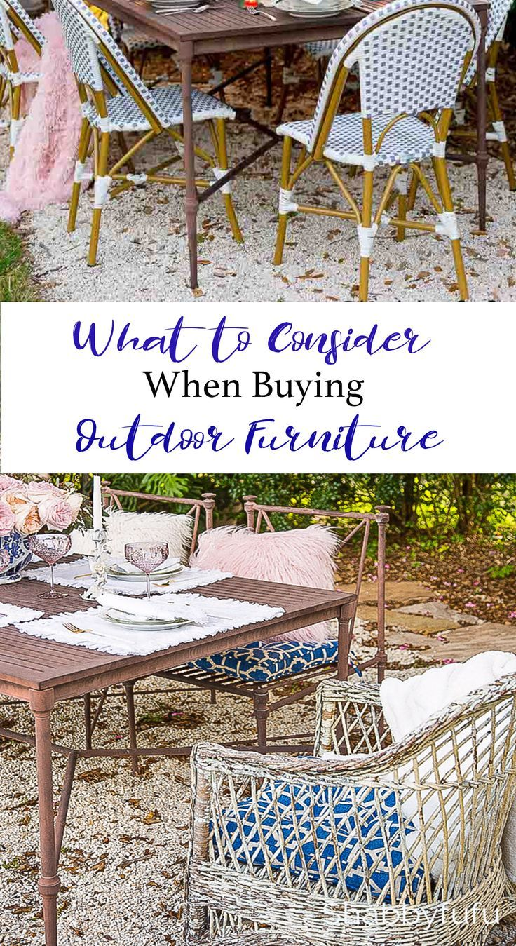 What To Consider When Buying Outdoor Furniture With Images Buy