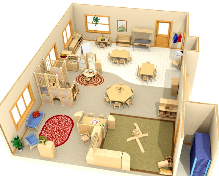 Classroom Layout Preschool ~ I like the layout of this classroom but would to
