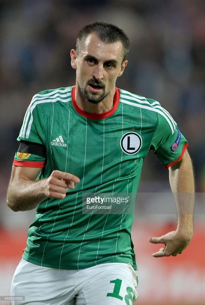 Michal Kucharczyk of Legia Warszawa in action during the UEFA Europa League Group L match between Trabzonspor AS and Legia Warszawa at the Hüseyin Avni Aker Stadium on October 2, 2014 in Trabzon,Turkey.