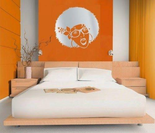 Conceptions chambres à coucher avec l'orange ~ Décor de Maison / Décoration Chambre