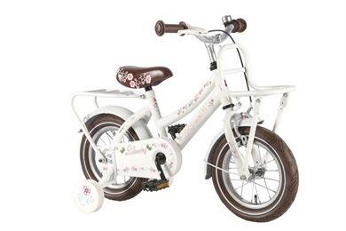"""Yipeeh Liberty Cruiser Wit 12 inch meisjesfiets De Liberty Cruiser fietsen zijn ultieme meisjesfietsen. Eerst waren de """"grote"""" Liberty Cruisers in ons assortiment, maar door de grote vraag, hebben wij de frames ook maar voor de allerkleinste dametjes gemaakt. Deze witte kleur met bloemetjesdekor is toch helemaal fantastisch. Met voordragertje, net als Mama."""