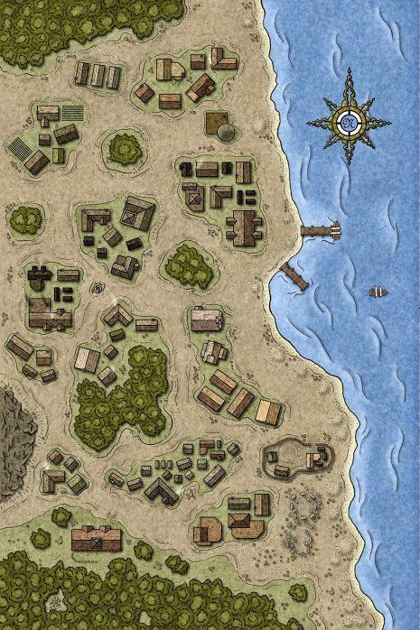 fantasy map town maps village rpg seaside library gaming dungeons medieval plan dragons dungeon pathfinder visit plus google layout