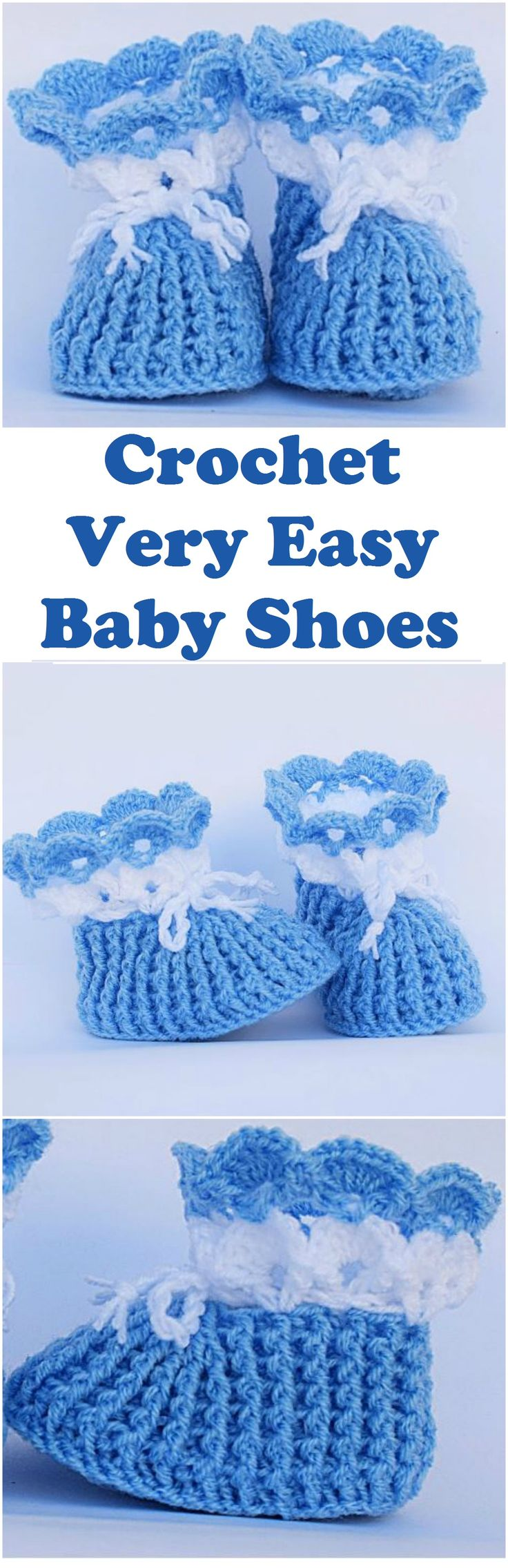 Crochet Very Easy Baby Shoes